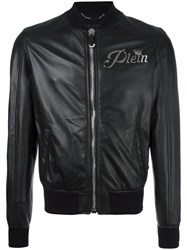 Philipp Plein Wild Tiger Bomber Jacket Black