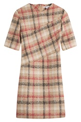 Carven Checked Dress With Wool Multicolor
