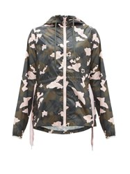 The Upside Ash Camouflage Print Hooded Jacket Multi