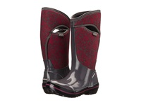 Bogs Plimsoll Quilted Floral Tall Dark Gray Multi Women's Rain Boots