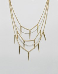 Made Statement Layered Necklace Gold