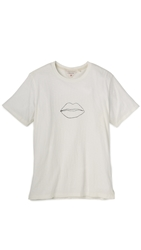 Rag And Bone Lips Graphic T Shirt White