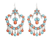 Mandf Western Chandelier Earrings Turquoise Red Earring