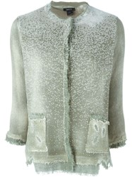 Avant Toi Distressed Cardigan Green