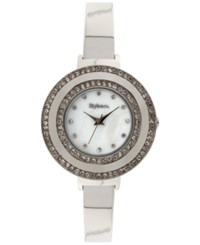 Styleandco. Style And Co. Women's Silver Tone Bracelet Watch 35Mm Sy006s Only At Macy's