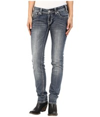 Rock And Roll Cowgirl Low Rise Skinny In Medium Vintage W0s5607 Medium Vintage Women's Jeans Blue