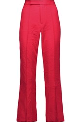 Marni Cropped Twill Bootcut Pants Bright Pink