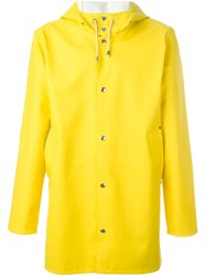 Stutterheim Hooded Raincoat Yellow Orange