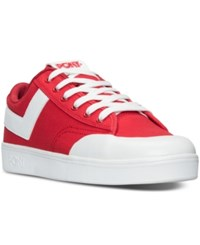 Pony Men's Vintage Slam Dunk Lo Canvas Casual Sneakers From Finish Line Red White