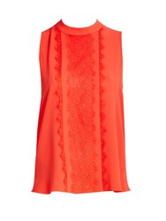 Wallis Petite Coral Panel Lace Shell Top