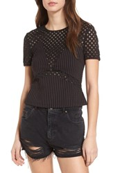 Supertrash Teka Top Black Evergreen Pinstripe