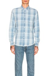 Simon Miller Pismo Shirt In Blue Checkered And Plaid Blue Checkered And Plaid