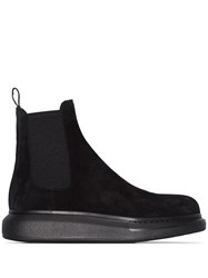 Alexander Mcqueen Black Leather Ankle Boots 60