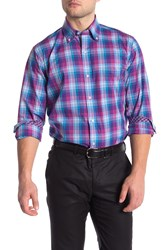 Tailorbyrd Plaid Long Sleeve Shirt Big And Tall Fuchsia
