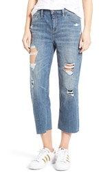Treasure And Bond Women's Mid Rise Baggy Crop Jeans