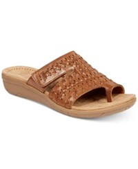 Bare Traps Jeaney Wedge Sandals Women's Shoes Brown