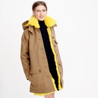 J.Crew Collection Coat With Canary Shearling Lining