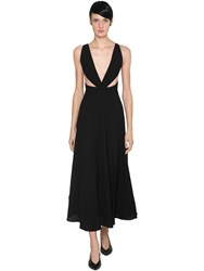 Givenchy Wool Crepe Midi Dress Black