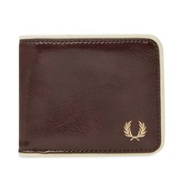 Fred Perry Classic Billfold Wallet Burgundy
