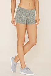 Forever 21 Active Space Dye Shorts Green Multi