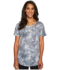 Lucy Final Rep Printed Short Sleeve Grey Stone Print Women's Clothing Blue