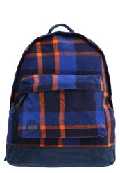 Mi Pac Mipac Picnic Check Rucksack Navy Orange Dark Blue