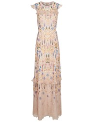 Needle And Thread Nude Flowerbed Embroidered Gown Pink