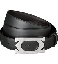 Cartier Double C Logo Buckle Belt Black Brown