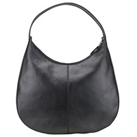 Kin By John Lewis Judit Zip Leather Shoulder Bag Black