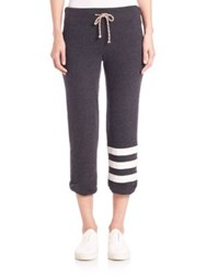 Sundry Classic Striped Sweatpants Charcoal