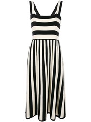 Chinti And Parker Mixed Striped Dress Black