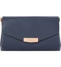 Dune Exie Textured Clutch Bag Navy Plain Synthetic