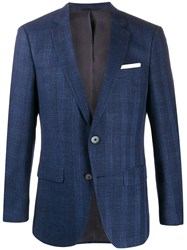 Boss Checkered Fitted Blazer 60