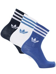Adidas Mid Cut Solid Crew 3 Pack Cotton Socks White