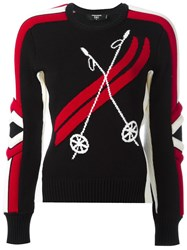 Dsquared2 Ski Ribbed Intarsia Jumper Black