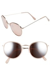 Women's Bp. 50Mm Round Aviator Sunglasses