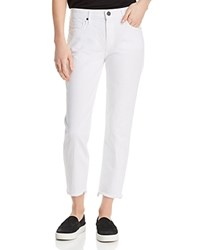 Parker Smith Cropped Straight Leg Jeans In Blanc