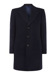 Chester Barrie Double Faced Coat Blue