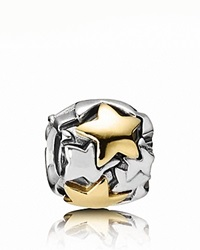 Pandora Design Pandora Charm Sterling Silver And 14K Gold Golden Star Moments Collection Silver Gold