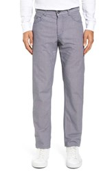 Brax 'S Cooper Bird's Eye Stretch Cotton Pants Sky Blue