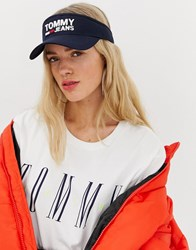 Tommy Jeans Visor With Logo Navy