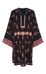 Ulla Johnson Aisha Afghani Button Embroidery Tunic Black
