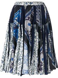 Wunderkind Scarf Print Skirt Blue