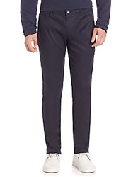 Ovadia And Sons Five Pocket Cotton Blend Stretch Pants Navy