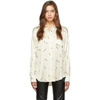 Alexander Wang Off White Cigarette Printed Shirt