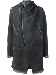 Masnada Dislocated Fastening Mid Coat Grey