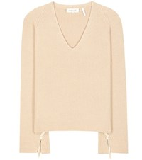 Helmut Lang Wool And Cashmere Sweater Beige