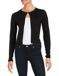 T Tahari Textured Cardigan Black