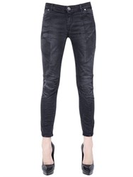 Balmain Biker Stretch Cotton Denim Jeans