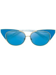 N 21 No21 No X Linda Farrow Cat Eye Sunglasses Blue